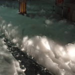 Japanese city covered in mysterious foam after earthquake